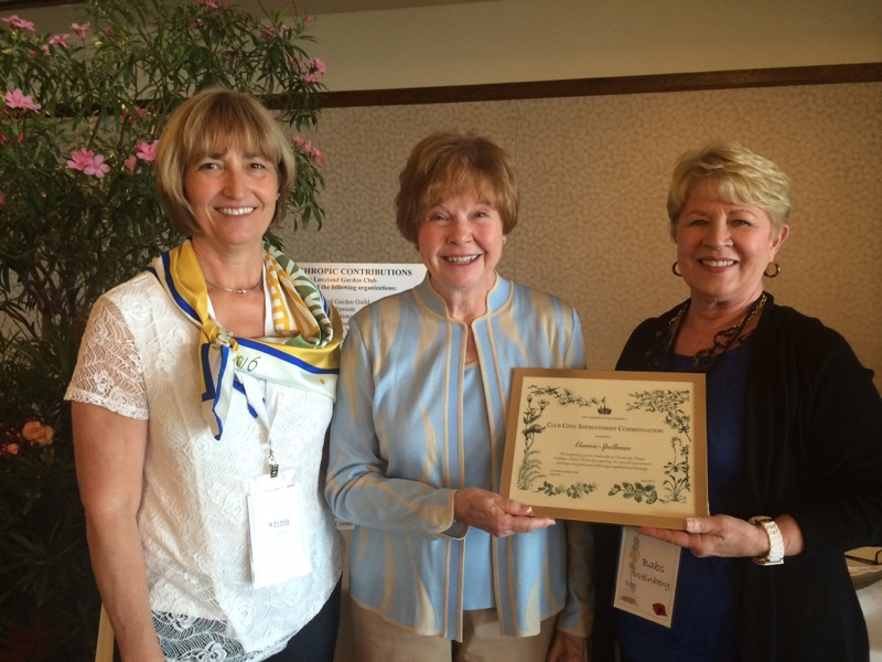 President Anne Carter, Connie Spellman, former executive director of Omaha By Design, Babs Weinberg, Awards Chairman